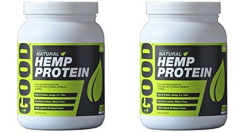 (2 PACK) - Hemp Hemp Natural Protein Powder Original 47% Protein| 500 g |2 PACK - SUPER SAVER - SAVE MONEY by Braham & Murray