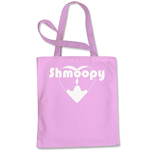 Tote Bag Shmoopy Shmoopie Romance and Valentine's Day Pink Shopping Bag by FerociTees