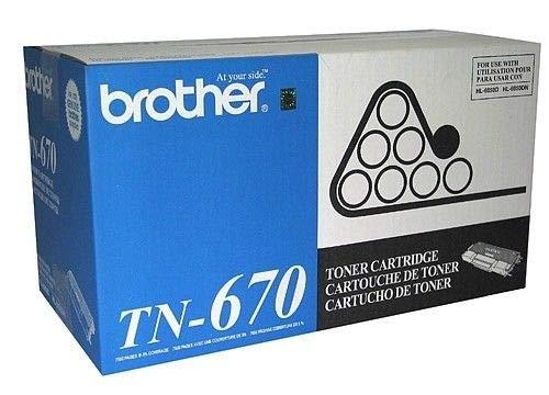 Brother TN670 Black Original Toner High Yield (7,500 Yield) (Tn670 Yield High)