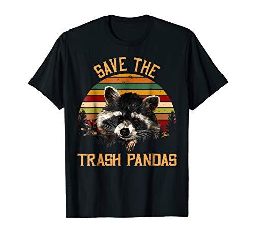 Save The Trash Pandas Raccoon Shirt Raccoon Animal T-shirt