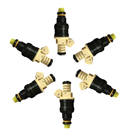 6PC Fuel Injectors Fit For 1985-1993 Ford & 1986-1990 Lincoln & 1986-1991 Mercury & 1988-1989 Merkur