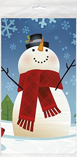 [Joyful Snowman Holiday Plastic Tablecloth, 84