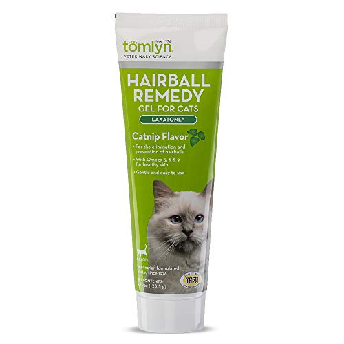 Tomlyn Laxatone Catnip-Flavored Hairball Remedy Gel for Cats, 4.25oz
