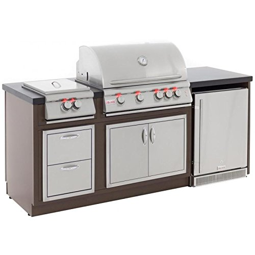 Blaze Complete BBQ Grill Island with BLZ-4LTE and Island Components (BLZ-LTE-ISLAND-NG), Natural Gas