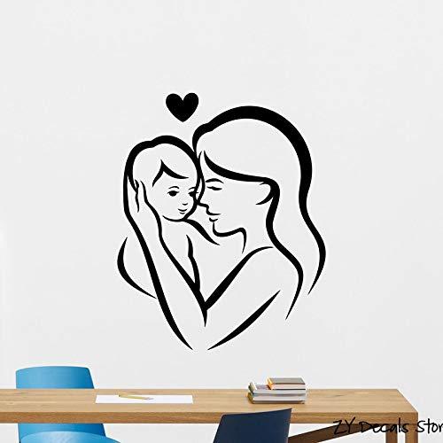 Dongwall Madre con bebé Tatuajes de Pared Dormitorio del Cuarto de ...