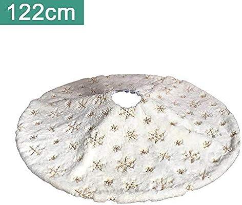 Cherishly Falda de árbol de Navidad Copo de Nieve Plateado Falda ...
