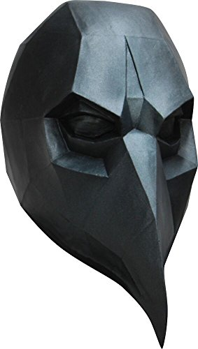 Ghoulish Productions Low-Poly Polygon Black Crow Adult Latex Mask 3D Halloween Costume Accessory New