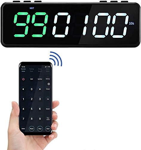 HUKOER Sport Stopwatch Timer,11 Timing Modes Ontworpen voor alle sporten, Magnetische Interval Timer met Bluetooth APP…