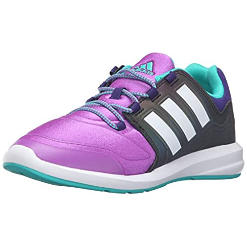 adidas Performance Girls' s-Flex k Running Shoe, Shock Purple/White/Shock  Mint, 10.5 M US Little Kid