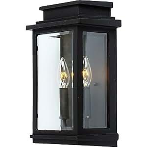 Artcraft Lighting Freemont Wall-Mount Outdoor 2-Light 13.5-Inch Sconce in Black