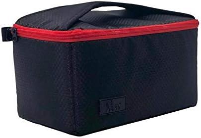 Color : Black Partition Padded Insert Camera Bag Protection Shockproof Canvas Inner Case Pouch for DSLR Digital Camera Colorful Camera Bag
