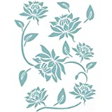 Imported Flower Leaf Pattern Wall Painting Stencil Pattern Home Art Decor