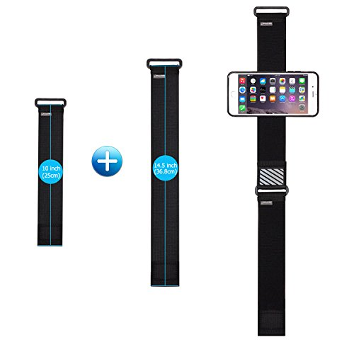 WANPOOL Sport Armband for iPhone ( Black ) - Open-Face Armband / Wristband Holder, Includes Standard Strap To Fit 11''-20'' Arm Circumferences & Extra Small Strap To Fit 7''-12'' … (iPhone 6(s) Plus) by WANPOOL (Image #3)