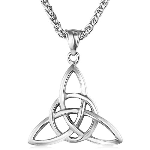 Amazon #LightningDeal 60% claimed: Stainless Steel Chain Celtic Pendant Necklace
