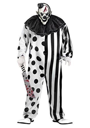 Mens Adult Halloween Costume (Fun World Unisex-Adult's Plsz Killer Clown Cstm, Multi, Plus)
