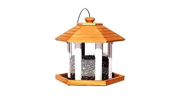 Yllyll Alimentador de Madera al Aire Libre del pájaro de la casa, jardín Salvaje a Prueba de Lluvia del aprecio del pájaro del alimentador del pájaro y al Aire Libre: Amazon.es: Productos