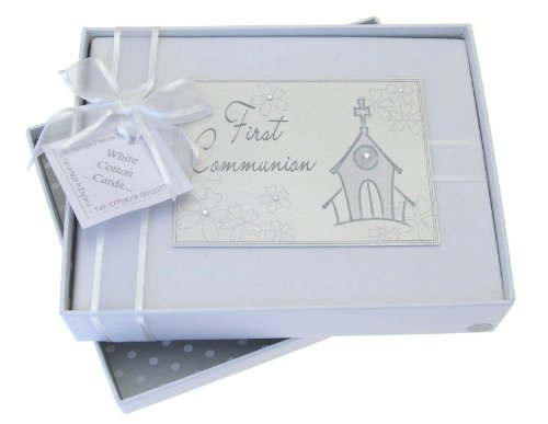 (White Cotton Cards First Communion Photo Album, Church)