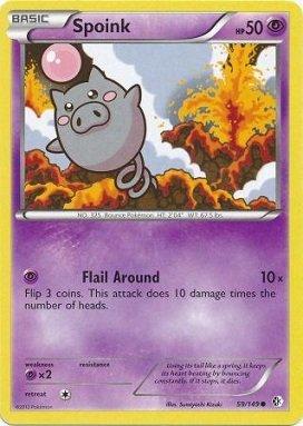 Pokemon - Spoink (59/149) - BW - Boundaries (Spoink Common Card)
