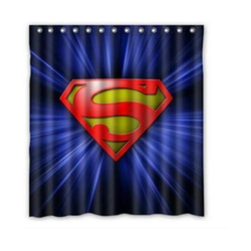 Charmant DIY Superman Cool Shower Curtain 66 X 72 Inches High Quality Waterproof Bath  Curtain