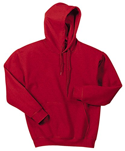 Gildan 18500 - Classic Fit Adult Hooded Sweatshirt Heavy Blend - First Quality - Red - 4X-Large (Red Classic Hoody Sweatshirt)