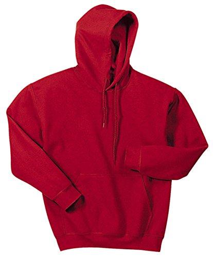 Gildan Heavy Blend Adult Hooded Sweatshirt, Antique Cherry Red, (Heavy Hooded Top)