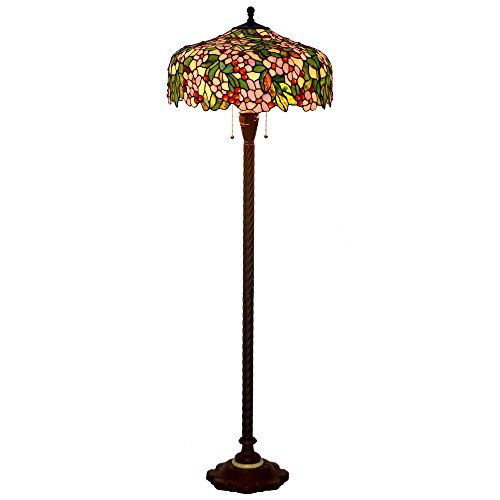Bieye L10536 20-inches Cherry Blossoms Tiffany Style Stained
