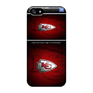 Shock Absorption Hard Phone Covers For Iphone 5/5s With Customized Fashion Kansas City Chiefs Pictures Marycase88