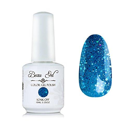 French Manicure Pedicure (Skyblue gel nail polish Beau Gel 15ml Soak Off UV LED Color Nail Varnish for French Manicure Pedicure (331))