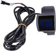 Bike Power Display,Electric Bike LCD Digital Battery Voltage Display Digit Display Voltage Voltmeter for Scoot