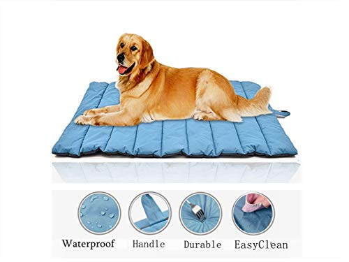Elite Large Size Waterproof Pet Blanket Bed Cover for Cat&Dog Indoors Outdoors Pet Bed Mats for Large Dog or Puppy (Blue)