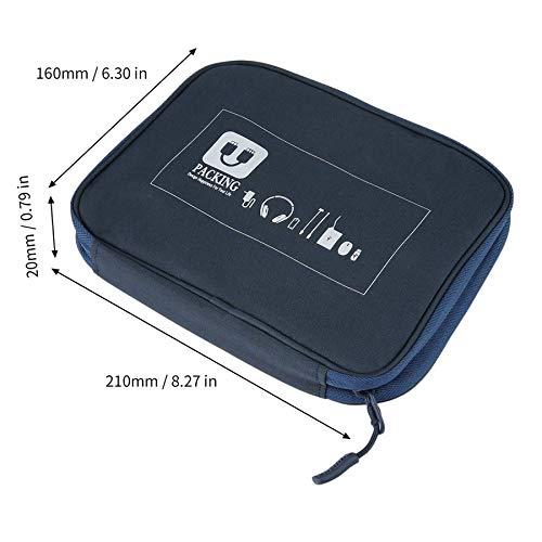 Earphone Data Cables USB Flash Drives Travel Case Digital Storage Bag Pouch