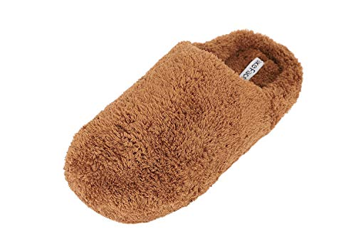 Women's House Plush Men's Slippers Shoes Memory Foam Outdoor Fleece Men Indoor for Clog Brown gTqxZdST