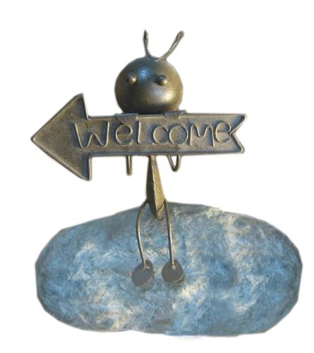 Deeco Consumer Products Stone Welcome Ant