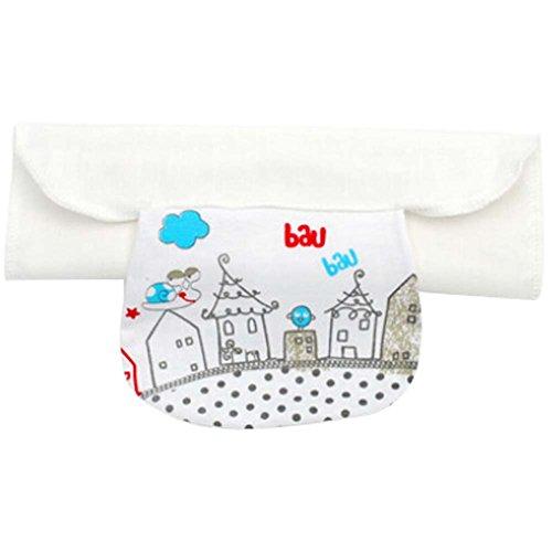 2 PCS Babies Cotton Towels for Sweat Absorbent Snail Pattern, L