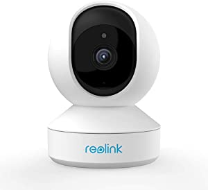 REOLINK 3MP Super HD Indoor Wireless Home Security Camera, 2.4Ghz WiFi Pan/Tilt Baby Monitor, Two-Way Audio, Night Vision, Remote Viewing w/SD Slot, E1
