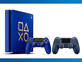 Playstation 4 1TB Limited Edition : Days Of Play Console + DualShock 4 Wireless Controller Midnight Blue + NBA 2k17 Bundle ( 3 - Items ) …