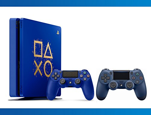 Playstation 4 1TB Limited Edition : Days Of Play Console + DualShock 4 Wireless Controller Midnight Blue + NBA 2k17 Bundle ( 3 – Items ) …
