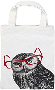 libri/_x Leselama Book Bag 100/% Cotton for Book Lovers Sports Bag 24 cm White moses