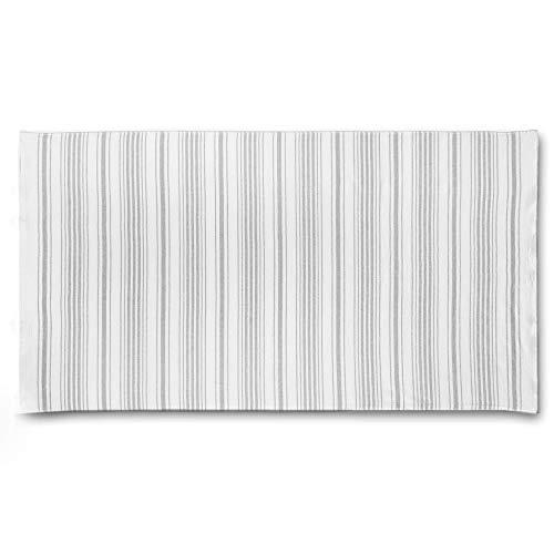 Casual Avenue Stripe Gauze Towel (100X180 White-Warm Gray)