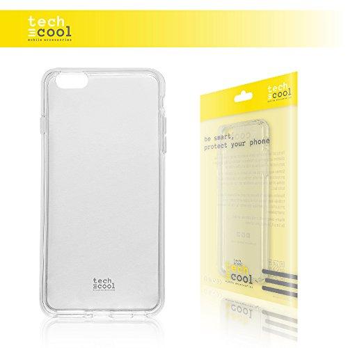 Iphone 6 Plus / 6S Plus Hülle, Funnytech® SchutzHülle premium Soft Flex TPU Silikon Transparent für Iphone 6 Plus / 6S Plus l Case, Cover, Handy [Ultra Dünn 1,5mm] (Klar)