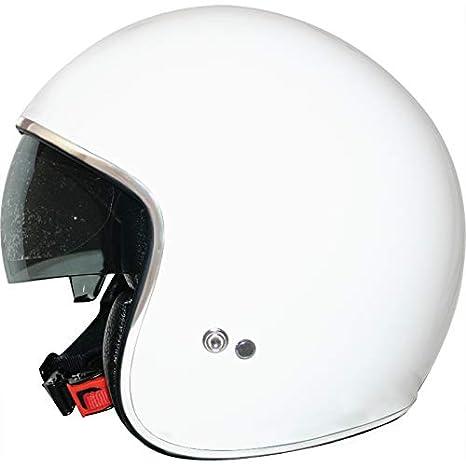 para Motocicleta Ciclomotor y Scooter Bicicleta ECE Homologado Leopard LEO-601 Casco Moto Jet Abierto con Interior Visera Mujer y Hombre Negro Mate XS 53-54cm