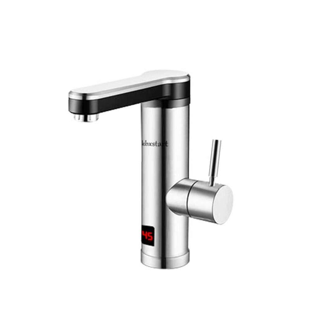 Kbxstart Tankless Warmwasserbereiter 220 V Edelstahl Küche Banheiro Elektrische Wasserhahn Bad Wasser Mit Led-anzeige