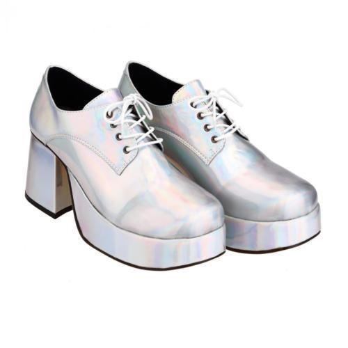 Men's Silver Platform Shoes - Size 10