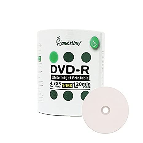 image relating to Printable Dvd Disc titled Wise Acquire 100 Pack DVD-R 4.7gb 16x White Printable Inkjet Blank Media Background Disc, 100 Disc 100pk