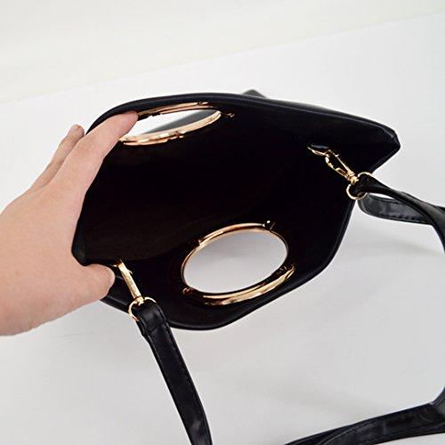 Millya - Cartera de mano para mujer, caqui (verde) - bb-01278-01C negro