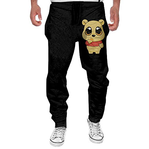 Pooh Sweatpants (Men Winnie Pooh Bear Cartoon Casual Sweatpants 3X)