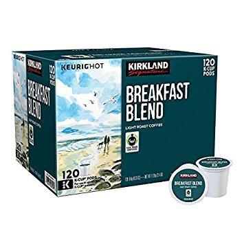 Kirkland Signature Breakfast Blend K-cup, 120 Count