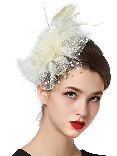 75d679e2415 PREV NEXT Home — Zivyes Fascinators Hat Cocktail Tea Party Wedding Headwear  Flower Mesh Feathers Headband Clip For Girls and Women