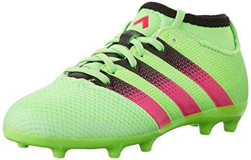 timeless design 0a886 8833b adidas Boys  ACE 16.3 Primemesh FG AG Soccer Shoes, Green Shock Pink