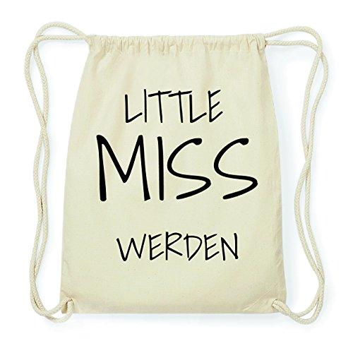 JOllify WERDEN Hipster Turnbeutel Tasche Rucksack aus Baumwolle - Farbe: natur Design: Little Miss INjxHzEmP